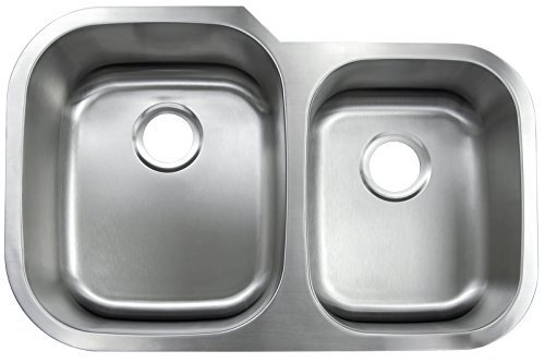GOLDEN VANTAGE New 31''x20'' Under Mount Double Bowl Kitchen Sink T-304 Stainless Steel 9'' Depth 16 Gauge GVVU3120A29 by Golden Vantage by Golden Vantage