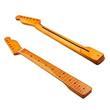 Electric Guitar Neck For Fender Tele TL Parts Replacement Maple 22 Fret Classic yellow