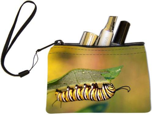 Rikki KnightTM Caterpillar Design Keys Coins Cards Cosmetic Mini Clutch Wristlet