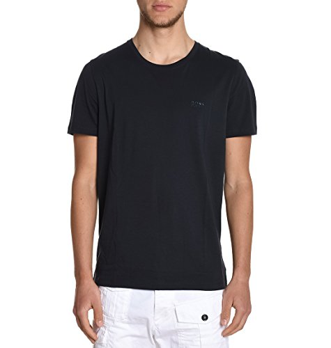Hugo Boss Herren TIBURT3350333808402 Schwarz Baumwolle T-Shirt