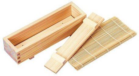 Yamako Maki Sushi Cooking Set Rolling Bamboo Mat and Box 82704
