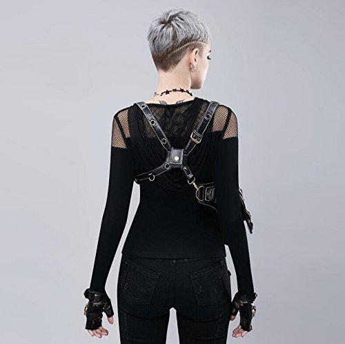Steampunk Shoulder Retro Fashion Women's Diagonal Punk Bag Pockets Family RpW4nn7