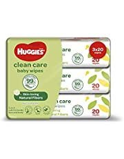 Huggies Gentle Care Baby Wipes, 20 count (Pack of 3)