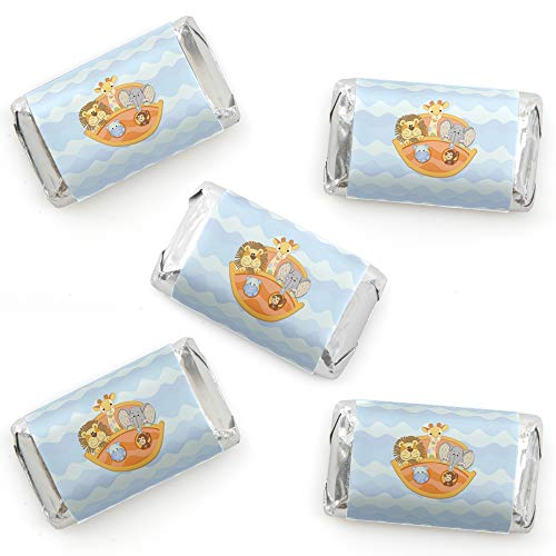 Noah's Ark - Mini Candy Bar Wrapper Stickers - Baby Shower Small Favors - 40 Count ()