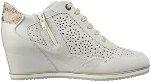 Women's Trainers Womens Geox D Illusion B Suede Wedge