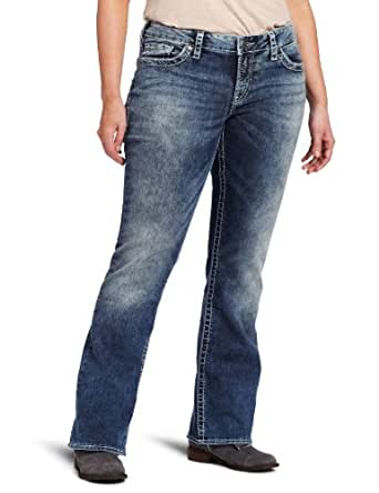 Silver Jean Women's Plus-Size Aiko Bootcut Jean, Medium Blue, 16x33