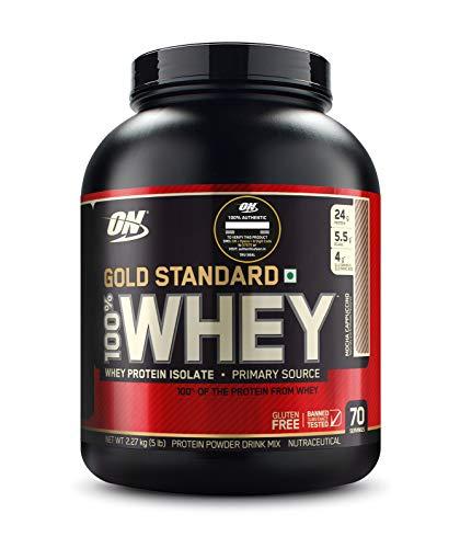 Optimum Nutrition Gold Standard 100% Whey Protein Powder – 5 lbs, 2.27 kg (Mocha Cappuccino)