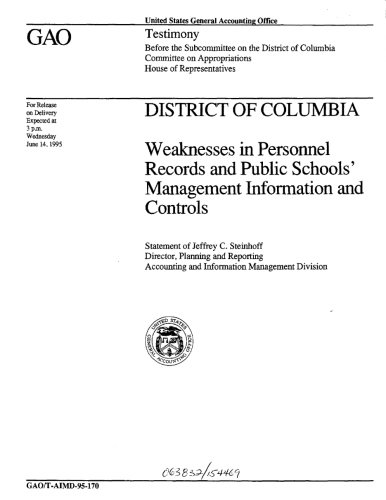 District of Columbia: Weaknesses in Personnel Records and Public Schools' Management Information and Controls