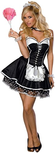 Secret Wishes  Sexy Maid Costume, Black, Small