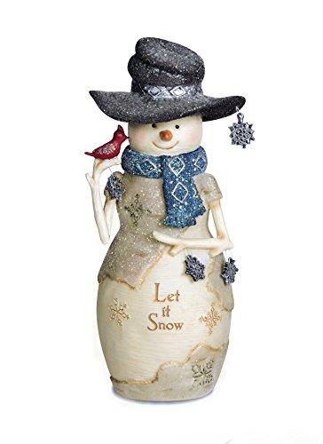 Pavilion Gift Company 81126 Let It Snow Snowman Figurine, 6