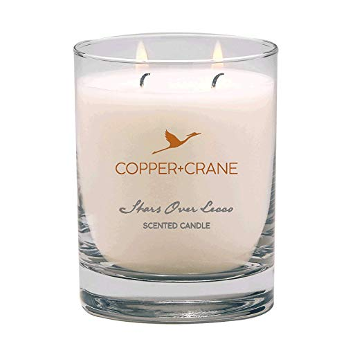 COPPER+CRANE Scented Candle | Jasmine and Musk Scent | long lasting up to 45 hours burn time | hand-placed double wick | 9.5 - Candle Musk