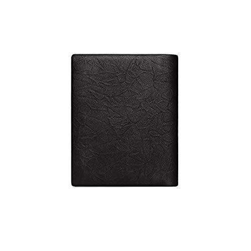 Jacquard Bi Fold - TONGBOSHI Wallet, Male, Short, New, Leather, Vertical, Youth Personality, Tide, Ultra-Thin, Men's Wallet, Wallet (Color : Black)
