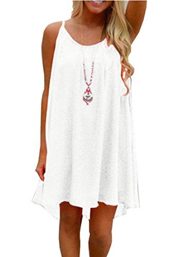 Wander Agio Cover up Beach Swimsuit Beach Bikini Coverups Plus Size Swimwear for Women White (Women Plus Size White Suits)