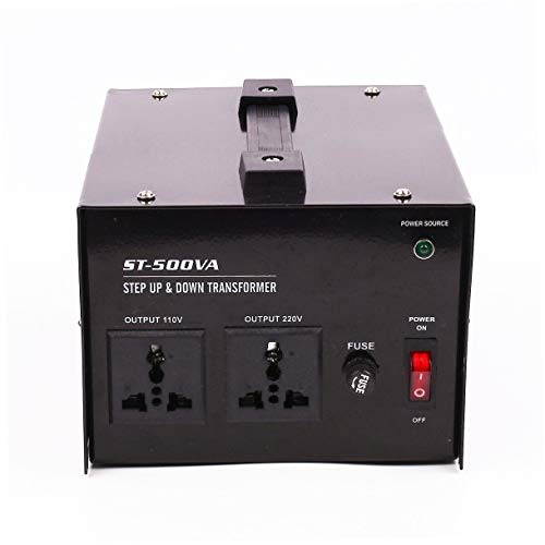 - Power 500W Voltage Converter Transformer Step Up/Down 110-220V,Circuit Breaker Protection - CE Certified - AC-500