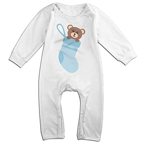 Little Socks Bear Long Sleeve Outfits For 0-24 Months White 18 - First Usps Class Time Australia To International