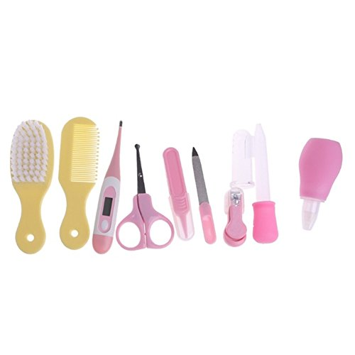CC Shop Newborn Baby Kids Nail Hair Health Care Thermometer Grooming Brush Kit Set (Multicolor)