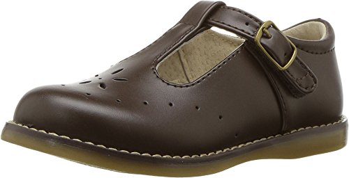 FootMates Girl's Sherry Velcro Perf T-Strap (Toddler/Little Kid) Chocolate (13 Little Kid M/W)