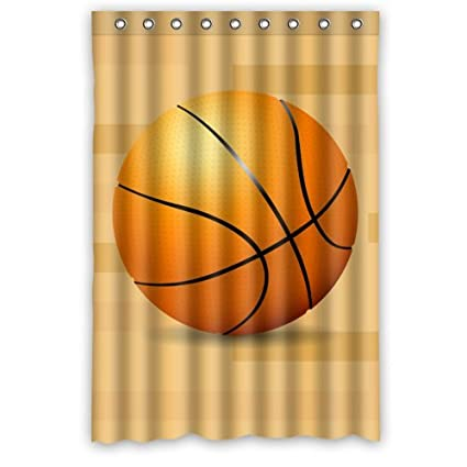 Popular Cool Love Basketball Cartoon Only One Shower Curtain 48quotx72quot New Waterproof