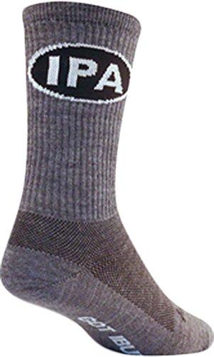 - SockGuy Men's IPA Socks, Gray, Sock Size:10-13/Shoe Size: 6-12,L/XL
