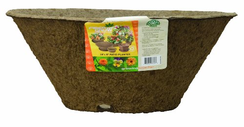 Akro-Mils FPP18080RBR 18 by 8-Inch Fiber Grow Patio Planter, Deep Round