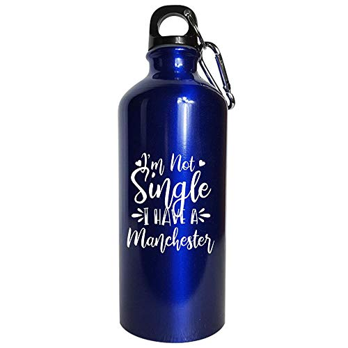 I'm Not Single I Have A Manchester Dog Lover - Water Bottle Metallic Blue