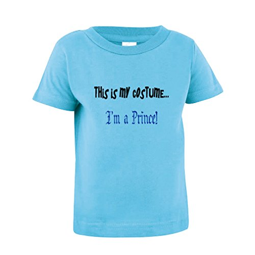 This Is My Costume... I'M A Prince Baby Toddler Baby Kid T-Shirt Tee Aqua Blue (M&m Toddler Costume)