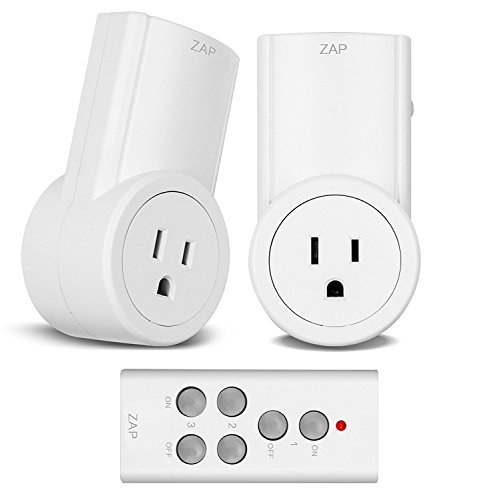 Etekcity Wireless Remote Control Electrical Outlet Switch for Household Appliances, White Learning Code, 2Rx-1Tx