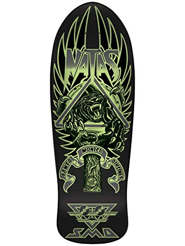 Santa Cruz Natas Panther 3 Glow Reissue Skateboard Deck Dark/Matte 10.538in x 30.14in