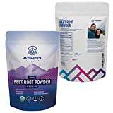 Organic Pure Beet Root Powder - Nitric Oxide Supplement, Enhance Athletic Performance, Promotes Heart Health, Aid Detoxification, Boost Brain Function, Add to Workout Shakes & Smoothies-Aspen Naturals