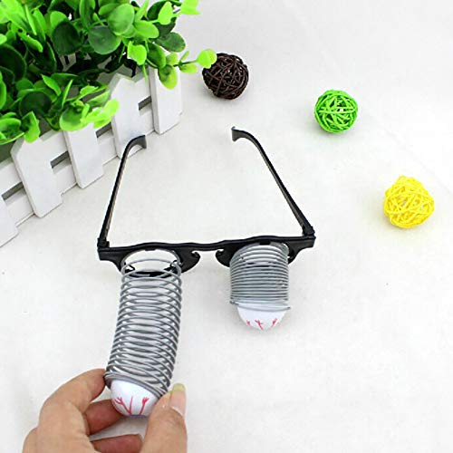 NarutoSak Drop Eyeball Prank Glasses Horror Scary Party Gags Practical Jokespranks Toys, for Kids School April fool's Day Halloween Party -