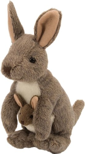 Toy Kangaroo - Wild Republic Kangaroo with Joey Plush, Stuffed Animal, Plush Toy, Gifts for Kids, Cuddlekins 8 Inches