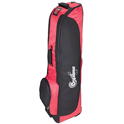 Confidence Golf Travel Bag/Soft Sided Flight Travel Cover with Wheels Red