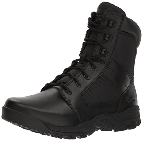 Bates Mens Seige 8 Hot Weather Side Zip Military And Tactical Boot  Black  11 0 M Us