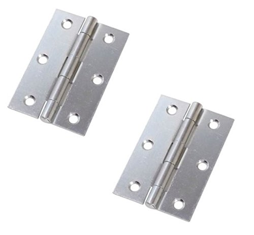 (Bulk Hardware BH03803 100mm (4 inch) Bright Zinc Plated Steel Narrow Utility Hinge - Pack of)