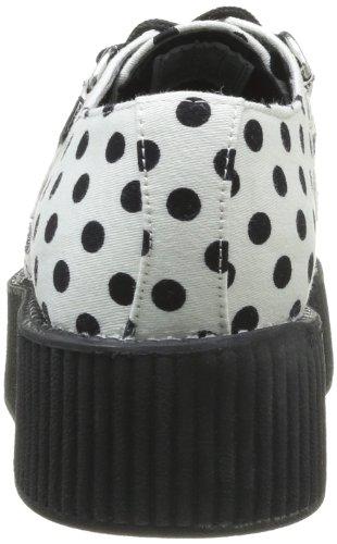 Mode white Sole Black Baskets Tuk Creeper Adulte Mondo Hi Dots Mixte Blanc With CfqpwXOp