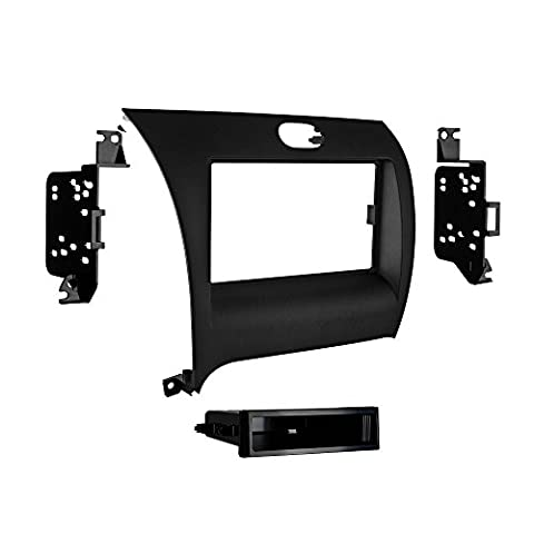 Metra 99-7356B Single DIN Installation Dash Kit for Kia Forte (Black) (Radio For Kia Forte)