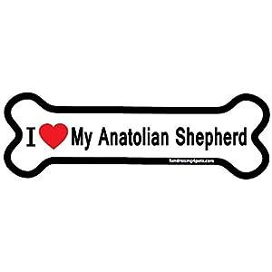 I Love My Anatolian Shepherd bone magnet 2
