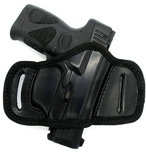 Right Hand Black Leather Open Top Quick Draw Belt Slide Holster for Taurus Millennium G2 G2S G2C