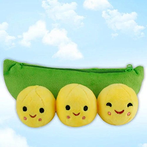 2 Pcs Inch Cute Bean Bag Story 3 Peas-in-a-Pod Plush Toy,Perfect for Baby Kids Shower Birthday Gift Xmas (Hungry Shark Xbox)
