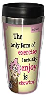 Tree-Free Greetings 16-Ounce Sip 'N Go Stainless Lined Travel Mug, Aunty Acid Chewing As Exercise (SG78475)