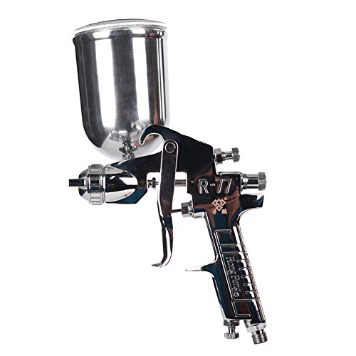 Ouya R77G Spray Gun Gravity Feed Paint Sprayer for Primer Spraying Nozzle Size 3.0mm 400cc Aluminum Cup by Ouya (Image #6)