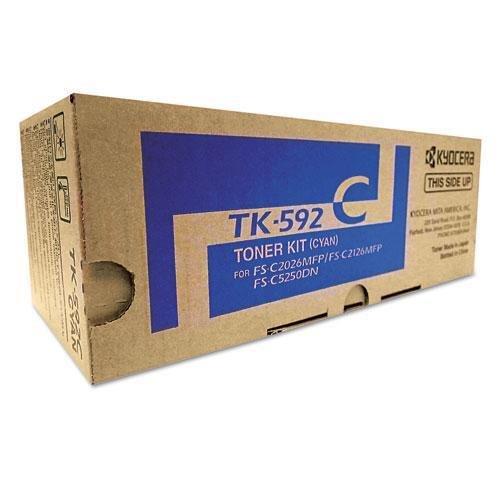 Kyocera 1T02KVCUS0 Model TK-592C Toner Cartridge, Genuine Kyocera, Page Yield up to 5000 Pages, Cyan