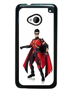 M7 Fundas Case, HTC M7 Fundas Case, Superman And Wonder Woman Animation DC Comics Plastic Skin Cover for Men Slim Guard
