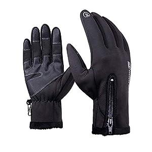 Gants de Ski, Écran tactile Gants, Gants Hiver Chaud, Gants sport pour extérieur compatibles écran tactile Gants d'hiver coupe-vent pour homme et femme,pour ski,randonnée,chasse,l'escalade, camping