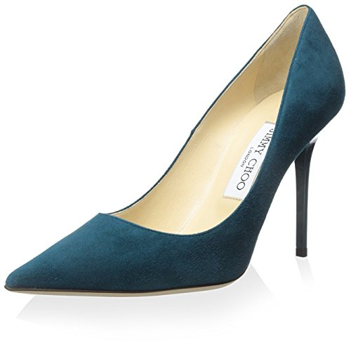 JIMMY CHOO Women's ABEL Pump, Teal, 37 M EU/7 M - Jimmy Women For Shoes Choo