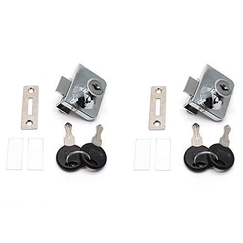 - BTMB Drawer Display Case Showcase Glass Door Cabinet Lock,2 Set w 4 Keys (Keyed Alike)