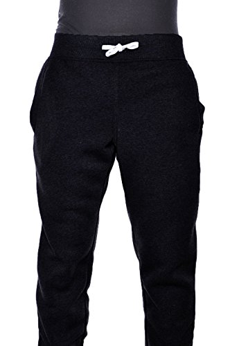 7ff7dbe6bba Hat and Beyond Mens Active Fleece Elastic Trouser Casual Harem Jogger Pants  (Black