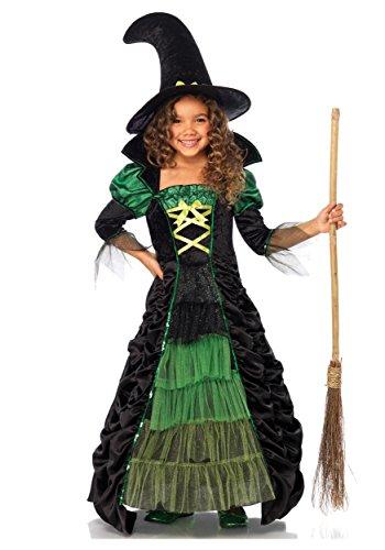 Storybook Witch Child Costume X-Small (Leg Avenue Ruffled Skirt)