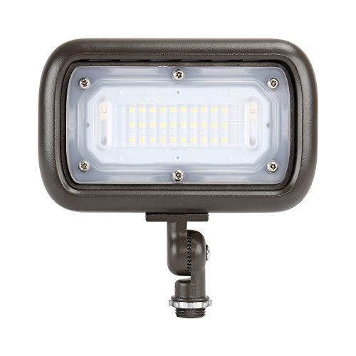 Cheap GKOLED 30W LED Floodlight, Outdoor Security Fixture, Waterproof, 100W PSMH Replace, 2700 Lumens, 3000K Warm White, 70CRI, 120-277V, 1/2″ Adjustable Knuckle Mount, UL-Listed, 5 Years Warranty