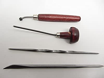 E C Lyons Intaglio Set A (4 Tools) Roulette Scarper/Burnisher Twisted Scriber Sq. Burin L334-1